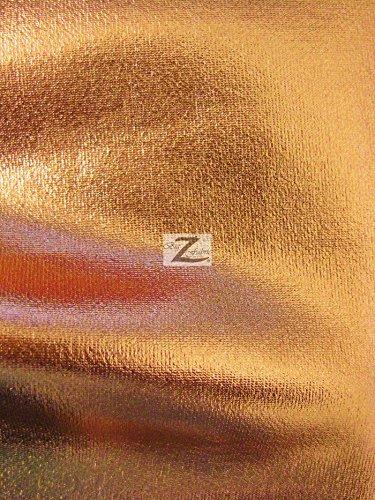 - METALLIC FOIL SPANDEX FABRIC - Copper - STRETCH LYCRA 58