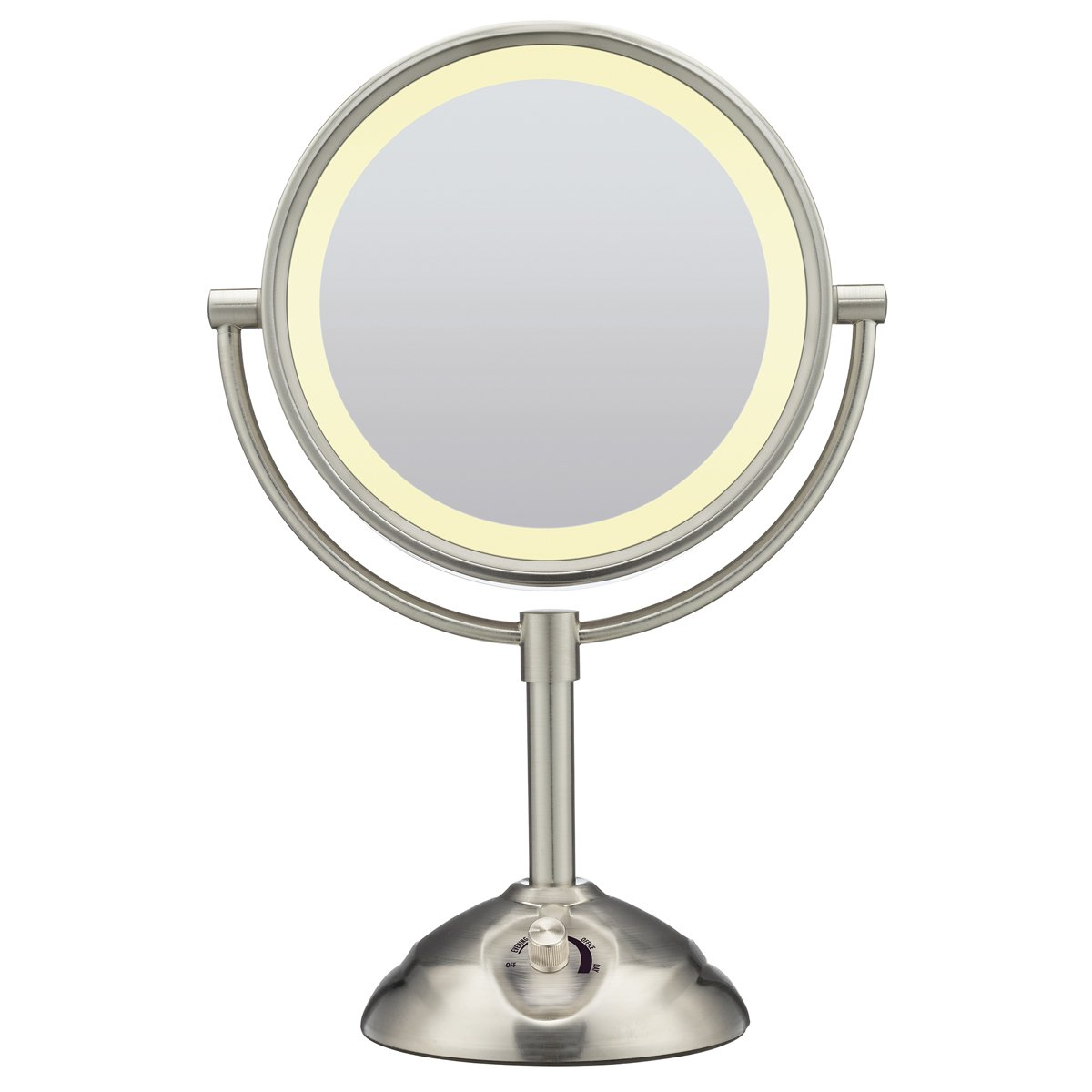 Conair Lighted Satin Nickel Double Sided Mirror BE103C
