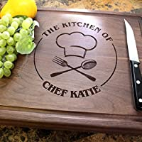 Culinary Chef Birthday Personalized Engraved Chopping Block - Birthday Gift, Closing Gift, Real Estate Closing, Housewarming Gift, Gift Ideas. #501