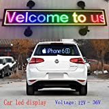 P4 LED Car display 21x6 inch RGB full color indoor LED sign support scrolling text image LED advertising screen display programmable led sign