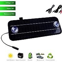ZHITING 4.5W 5V / 12V Módulo de cargador de panel solar portátil, DC 5521 a pequeños clips de cocodrilo + cables de encendedor de automóviles, adecuado para iPhone, dispositivos móviles, automóviles