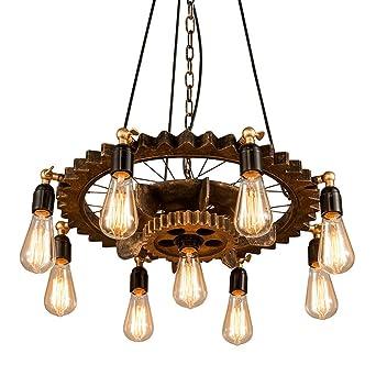 Lamparas de techo habitacion Lampara Industrial Colgante Vintage Rusticas Iluminacion Madera de techo Es Adecuado para