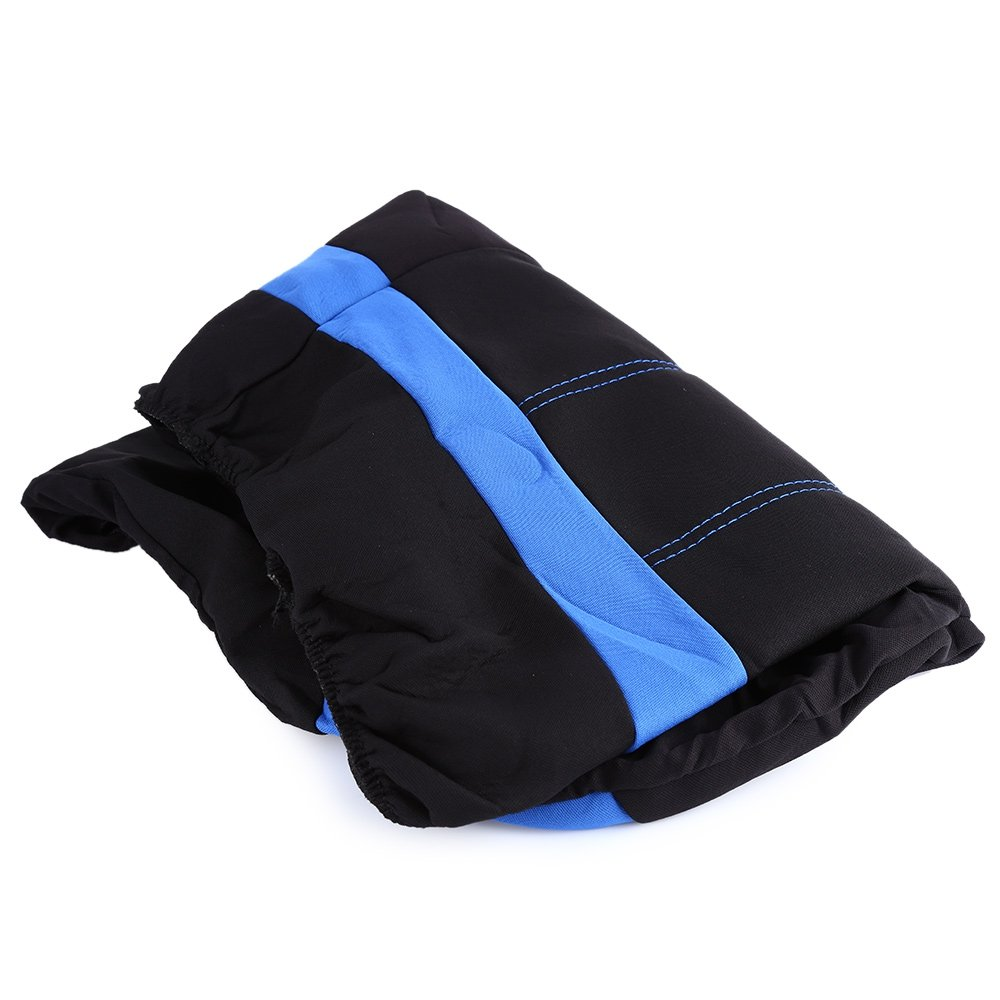 NILE Universal Fit Car Cloth Fabric Seat Cover Full Set - Fit Most Car, Truck, SUV or Van Color Blue