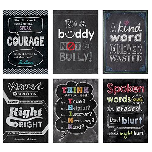 Creative Teaching Press Inspire U No Bullying Allowed Poster 6 Pack (7481) Bully Poster
