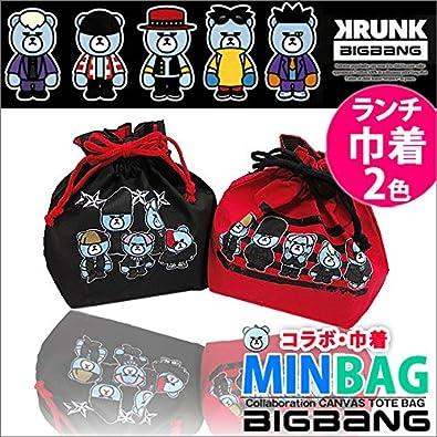Amazon Co Jp Krunk Bigbang ランチ巾着 ブラック Black シューズ バッグ