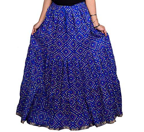 Decot Paradise Women Cotton Print Skirt Blue