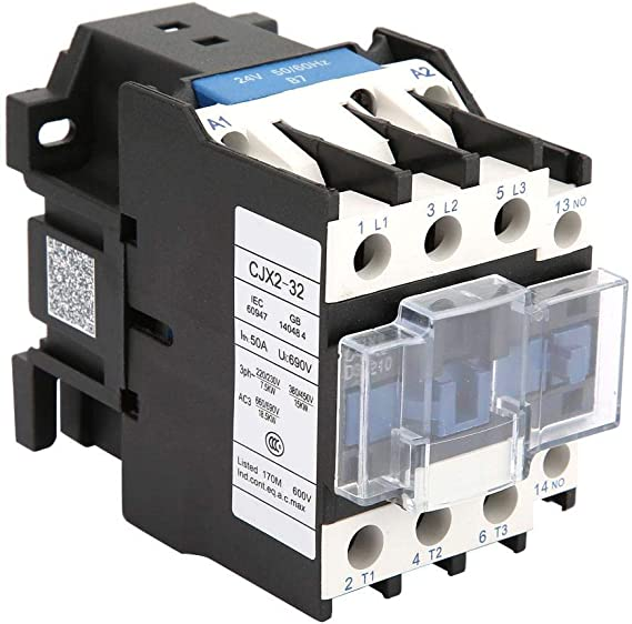 Durable CJX2-1810 3-Pole 35mm DIN Rail Mount AC Contactor One NO AC110V Coil 32A