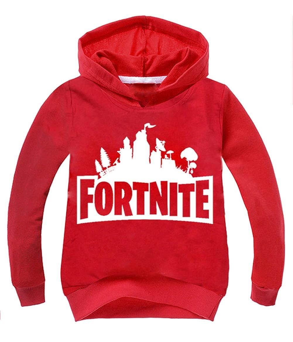 Kids Girls Boys Fortnite Hoodie Crewneck Hooded Sweatshirt Fortynine