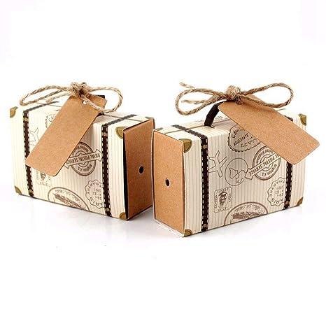 Amazon.com: Miizoken - 10 cajas de chocolate para boda ...
