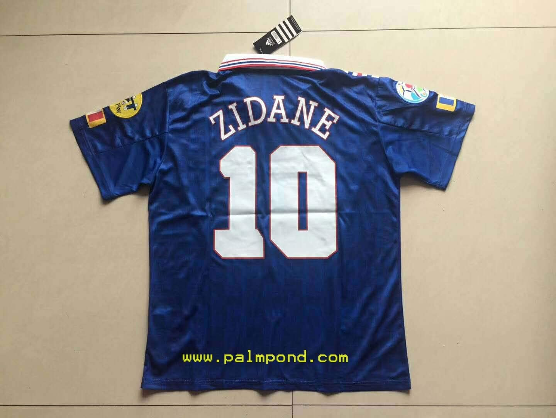 Amazon Com Fm Zinedine Zidane France Home Retro Soccer Jersey 1996 Sports Outdoors