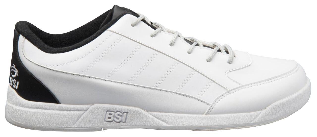 BSI Men's Sport Shoe, White/Black, Size 13.0