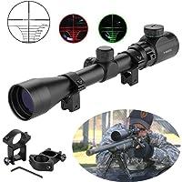 MCTECH Zielfernrohr Rot Und Grün Taktische Luftgewehr Armbrust Rifle Scope Luftscharfschützen Airsoft + 20mm Montagen für Jagd und Sport