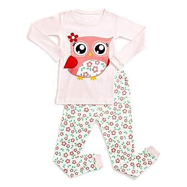 e04f0f7cf Amazon.com  Baby Kids Boys Girls Leisure Wear Pajamas Set 1-10T ...