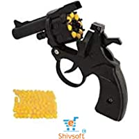 Shivsoft Plastic Mini Toy Gun with 8 Rounds Barrel and 40 Pieces High-Grade 6mm BB Bullets (Multicolour) - Set of 2