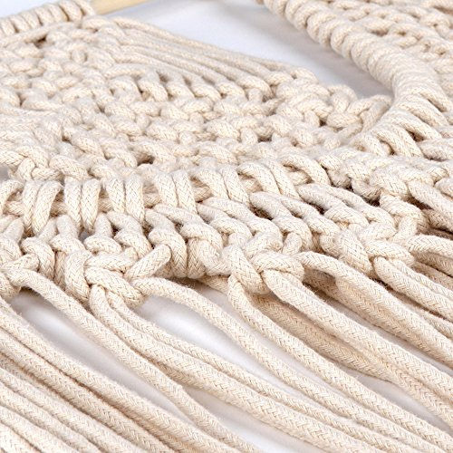 HAOCOO Macrame Wall Hanging, Tapestry Home Decor Bohemian Western Ethnic Style Woven Tapestry for Sofa Fireplace Desk or Bed,33.47''L x 14.96''W