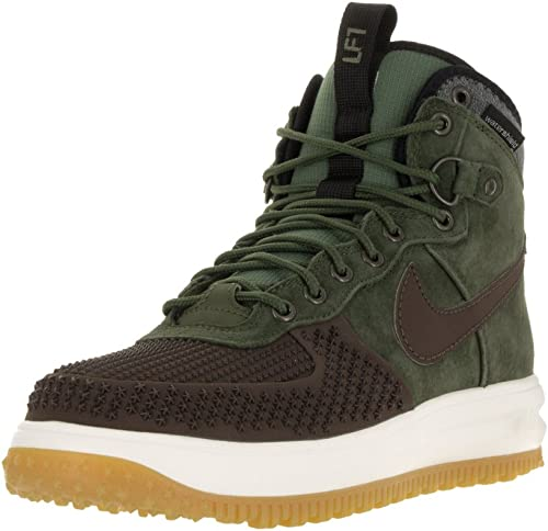 NIKE Mens Lunar Force 1 Duckboot BBQ BrownOive Synthetic