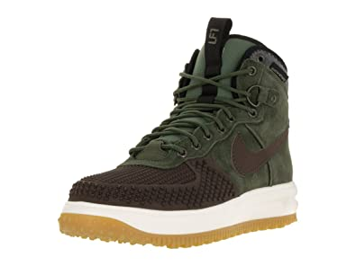 NIKE Mens Lunar Force 1 Duckboot Sneaker Boot Baroque Brown/Black/Army Olive  805899