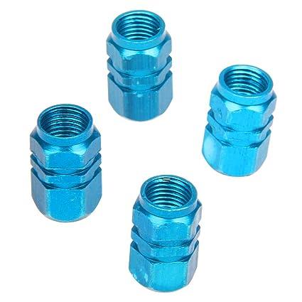 SODIAL(R) 4 X Tapas de la valvula de aire del vastago Cubierta del