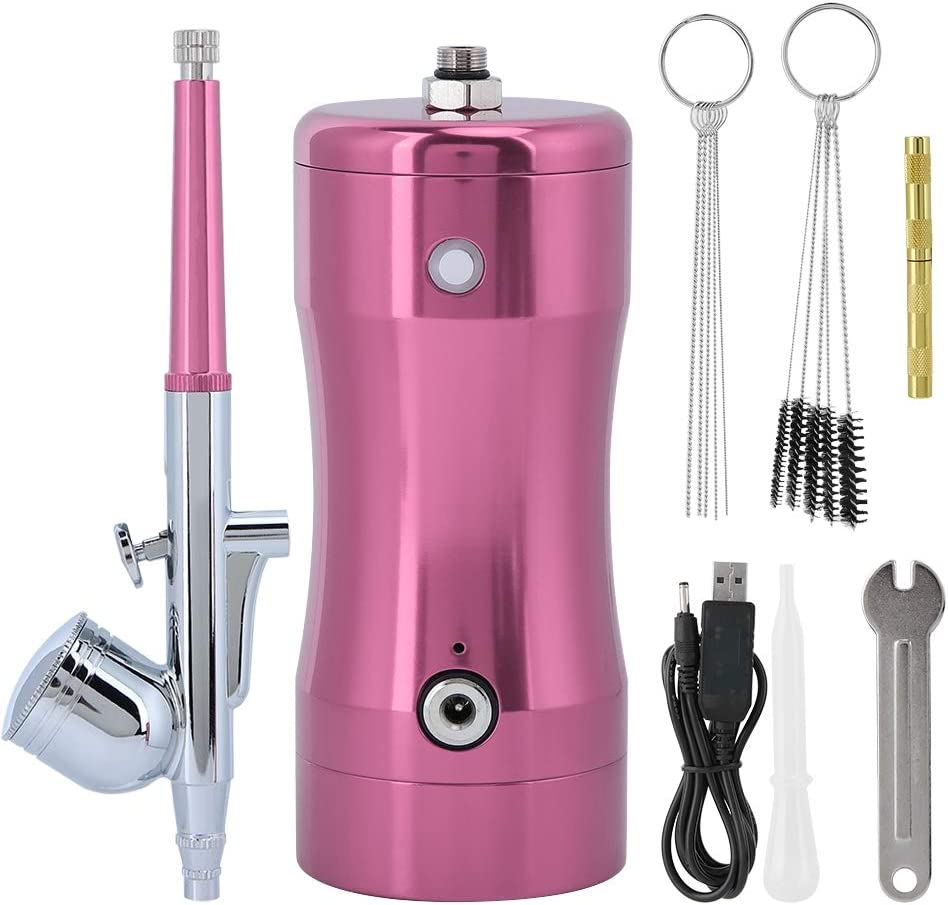 0.3mm Mini 7CC Airbrush Kit Spray Air Brush Set G12 Pump Re Cleaning Tool