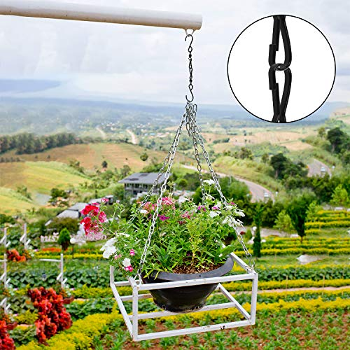 FEPITO 12 Pack Swivel Hooks Clips Wind Spinner S Hook Clips Hanging Wind Chimes Crystal Twisters Party Supplies (Black)