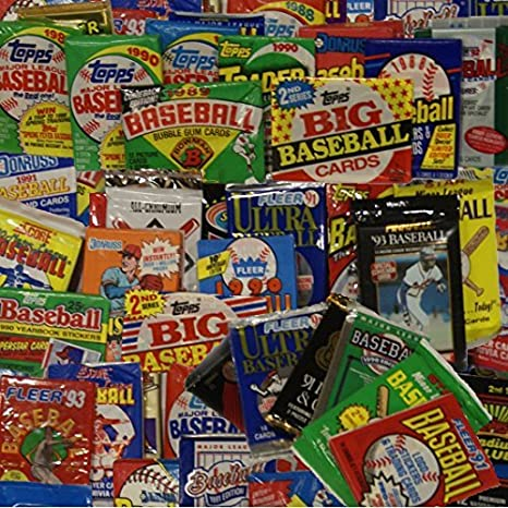 Unopened Baseball Cards Collection In 50 Factory Sealed Packs From The Mid 1980s And Early 1990s Contains Over 550 Mlb Baseball Cards Look For
