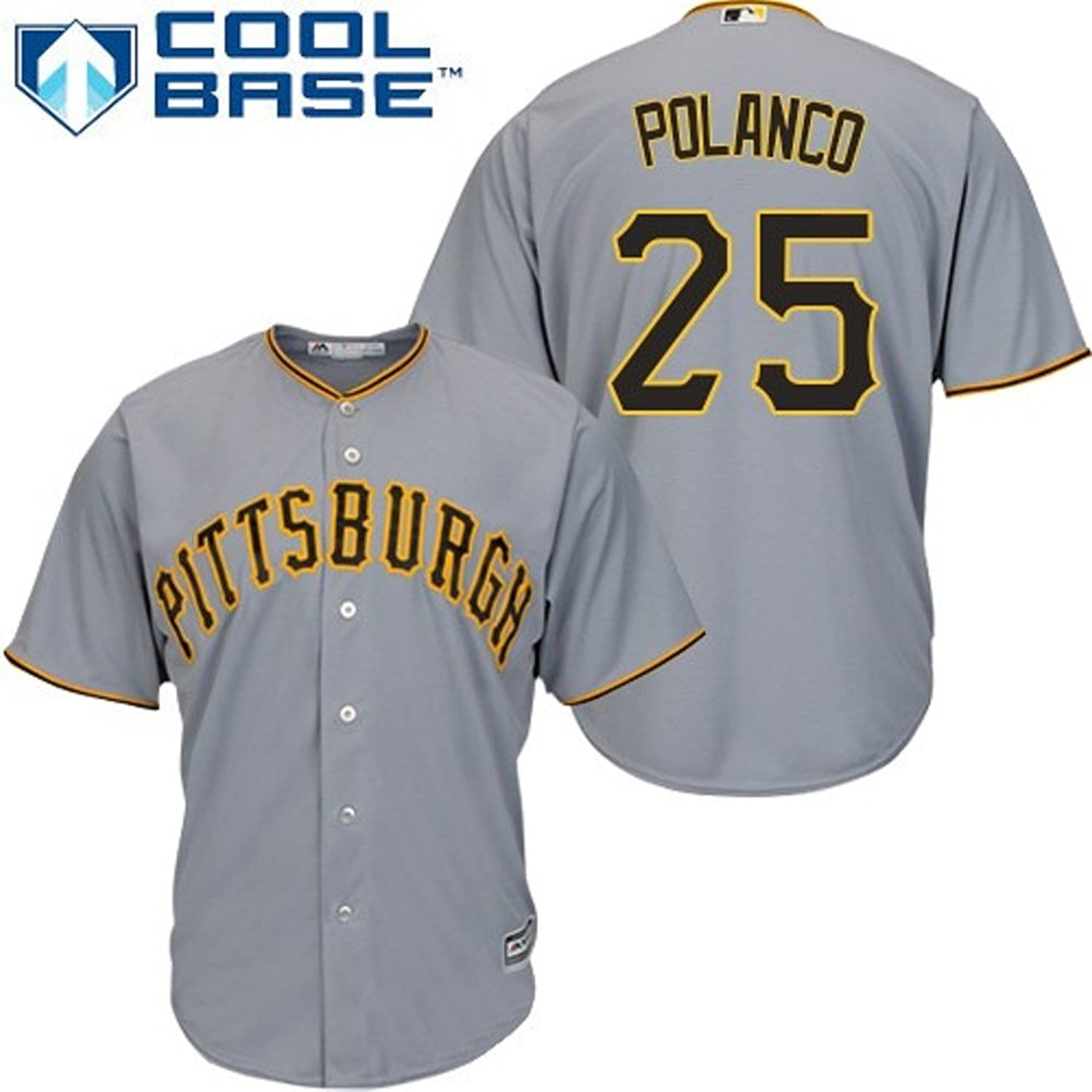 104976939 ... Amazon.com Gregory Polanco Pittsburgh Pirates Gray Toddler Cool Base  Road Replica Jersey Clothing ...