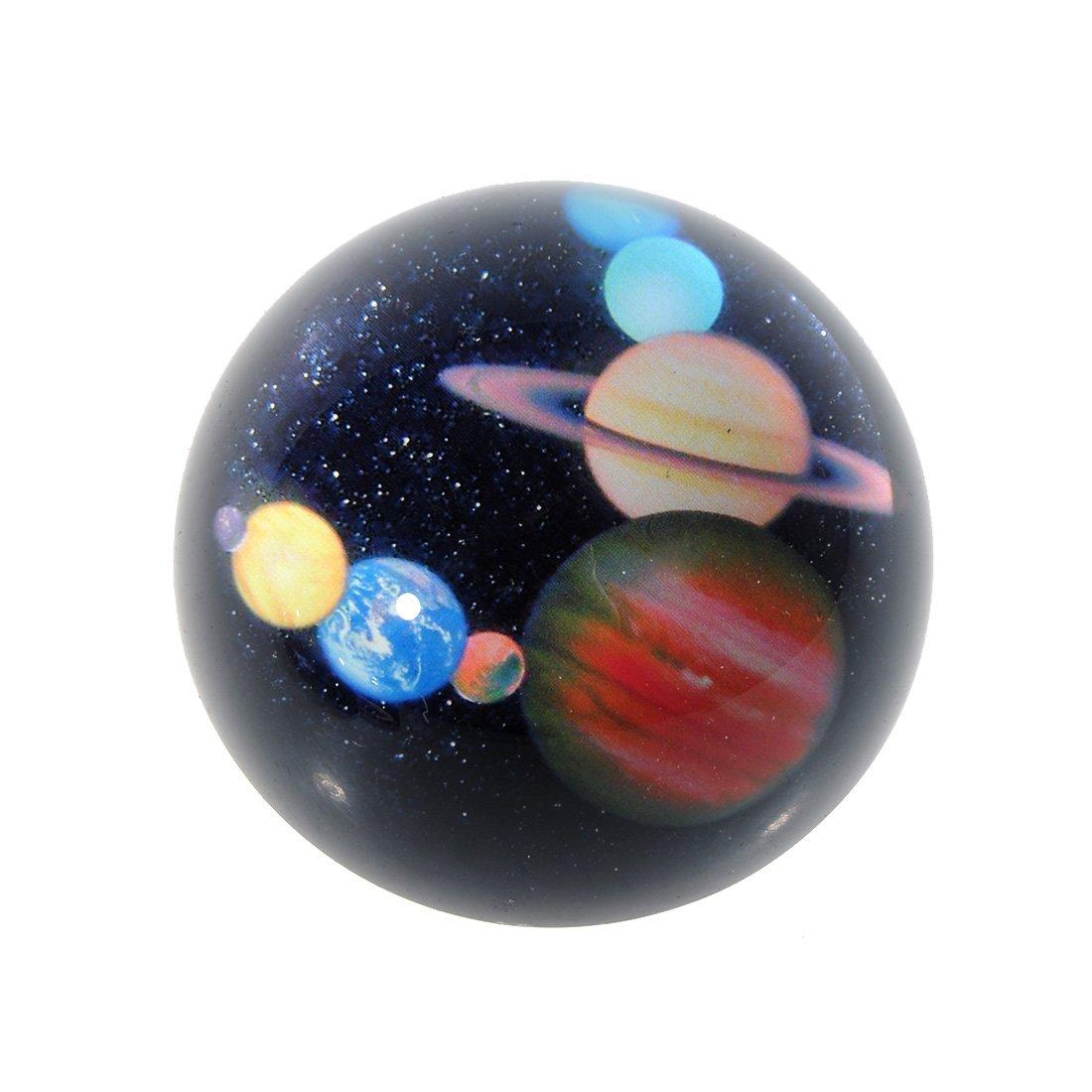 H & D 80mm Sfera sfera di cristallo sorprendente cielo stellato design fermacarte figurine decorazione artigianale per bambini o come regalo di Natale, Legno, planets LTD