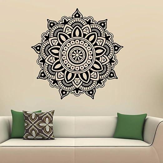 Fuibo Home Vinyl Familie Mandala Blume Indische Schlafzimmer ...