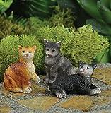The Fiddlehead Fairy Garden Miniature Cats Accessory Set (Set of 3) #16862