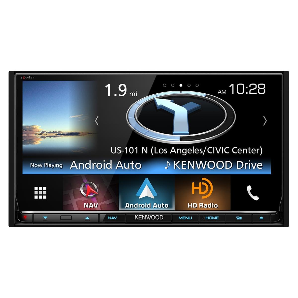 Kenwood DNX893S 6.95'' eXcelon Double-DIN AV Navigation System With Bluetooth