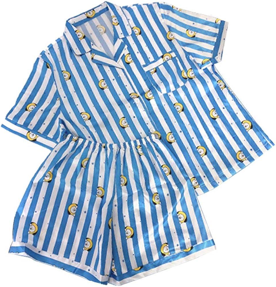 Shorts Bangtan Boys BTS BT21 Cooky CHIMMY KOYA MANG RJ SHOOKY Tata Impression de Bande dessin/ée Type de Bouton Pyjama Desshok Ensembles de Pyjama Femme Haut /à Manche Courte