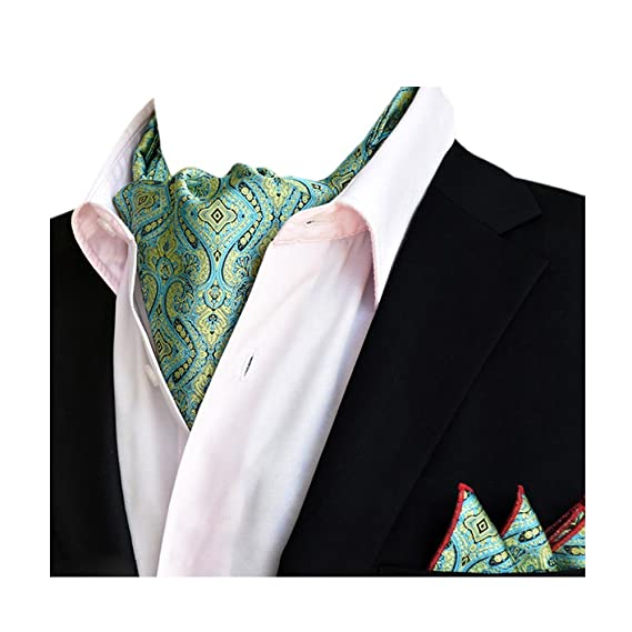 YCHENG Hombre Bufanda Jacquard Ascot Paisley Corbatas Pañuelo Boda ...