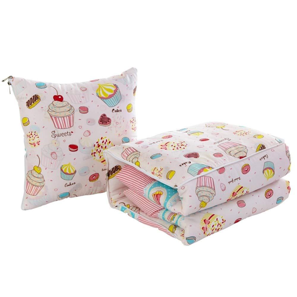 XZDXR Kissen Quilt Dual-Use faltbar von Büro Mittagspause Klimaanlage ist Spaß Dessert groß (mit Quilten) 50  50cm offen 150  195cm