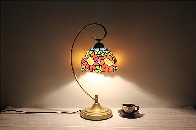 DELLT-8 pulgadas girasoles lámpara de cristal de la vendimia ...