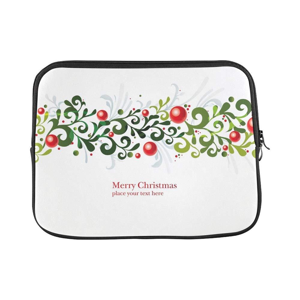 YSJXIM Diseño Personalizado Adorno de de de Navidad Ramas Berries Funda para computadora portátil con Funda Blanda Funda para Macbook Air 11