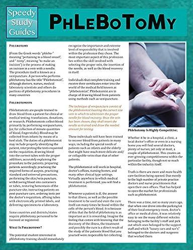 phlebotomy speedy study guides 9781634289542 medicine health rh amazon com Phlebotomy Test Phlebotomy Test