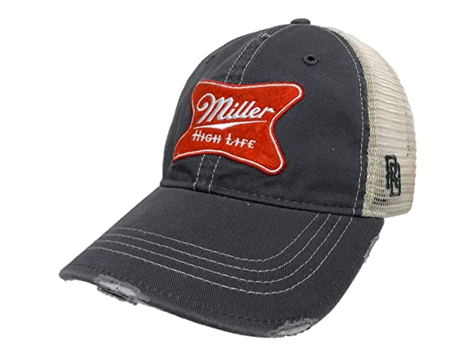 17caa7383890b Image Unavailable. Image not available for. Color  Miller High Life Brewing  Company Retro Brand Vintage Mesh Beer Adjust Hat Cap Red