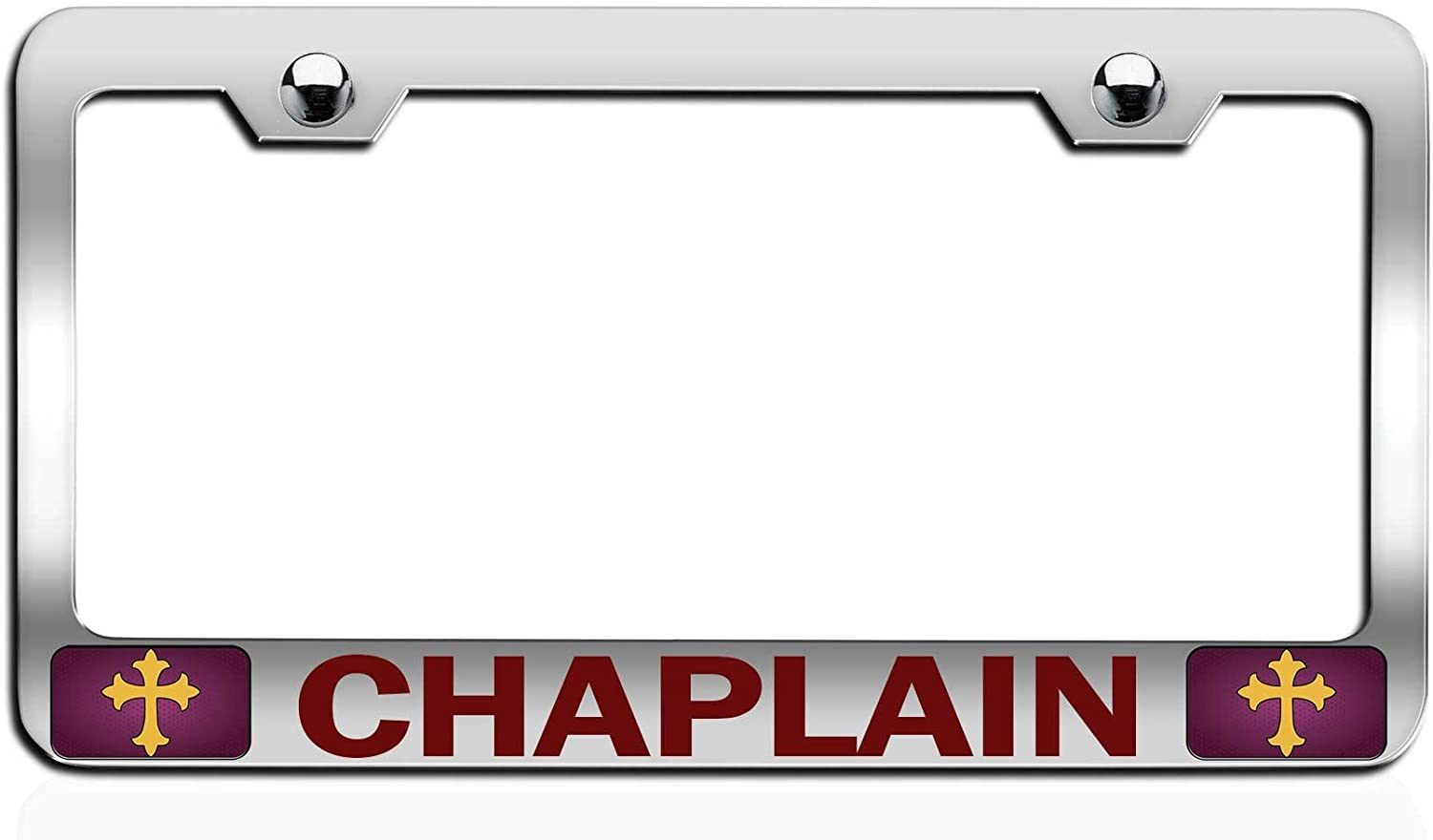 Ordained Chaplain License Plate Frame Tag Holder