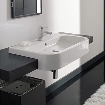 Semi Recessed Bathroom Sink on non recessed bathroom sinks, vessel sinks, semi recessed basins, wall recessed sinks, semi recessed kitchen lighting, semi recessed stainless steel, semi recessed shower, rounded exposed front sinks, semi recessed tubs, semi recessed medicine cabinets,