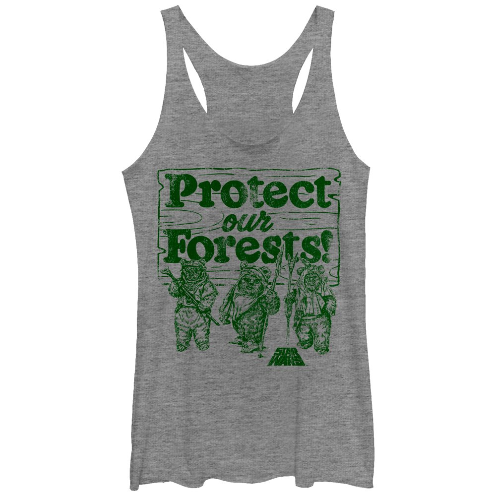 Star Wars Women's Ewok Protect Our Forests Racerback Tank Top Fifth Sun