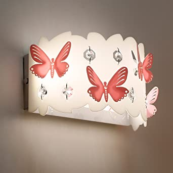 W Papillon Roman Zqfwz 6 Lumières Enfants Table Led Acrylique Mur iPZuTkOX