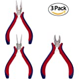 3pcs DIY Jewelry Pliers Set - Chain Nose , Side Cutter and Round Nose for beading and Jewelry making by Zelar Made