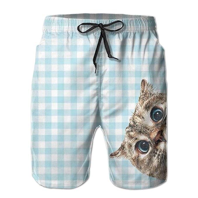 20b2aa7aa5 Amazon.com: YUEJIQG Men's Shorts Swim Beach Trunk Summer Cartoon Funny  Cactus Athletic Fashion Shorts with Pockets: Clothing