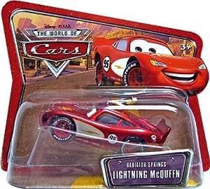 Amazon Com Radiator Springs Lightning Mcqueen Short Card Disney Pixar Cars 1 55