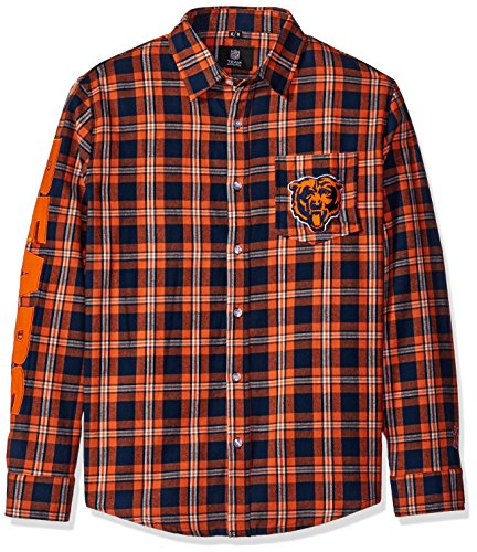 Chicago Bears Wordmark Basic Flannel Shirt Small