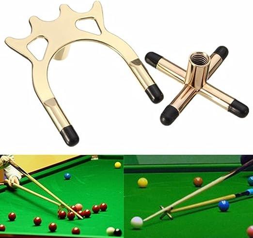 Snooker Rest Spider and Metal Cross, juego de accesorios antideslizantes para billar de billar de billar de alta calidad Tamaño libre latón: Amazon.es: Hogar
