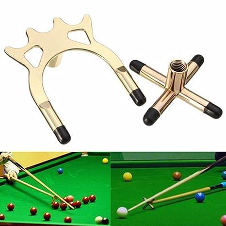 cheap for discount b6ba7 8e876 Excellent112 2 Billard Queue Rack Messing Kreuz Spider Halter Zubehör für  Pool Billard Snooker Tisch Queue Stick, 3.54x2.95x0.47