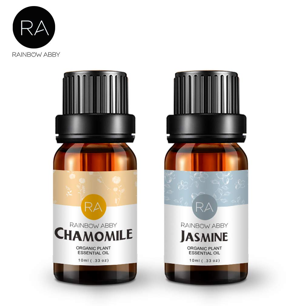 Jasmine Chamomile Essential Oil, 100% Pure Aromatherapy Oils Natural Therapeutic Grade Oils 2x10mL, Value 2 Pack by RAINBOW ABBY (Image #7)
