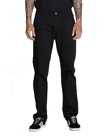 ee853daa66 Rsq New York Slim Straight Stretch Chino Pants, Black, 28X30 at ...