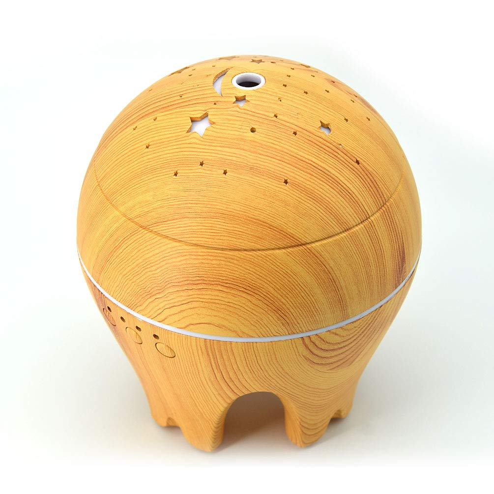 UK BONITOYS Wood Ultrasonic Cold Mist Humidifier Aromatherapy Essential Oil Diffuser with Adjustable Fogging and 7 LED Color Lights (Yellow) by UK BONITOYS (Image #5)